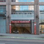 Въезд на городскую парковку