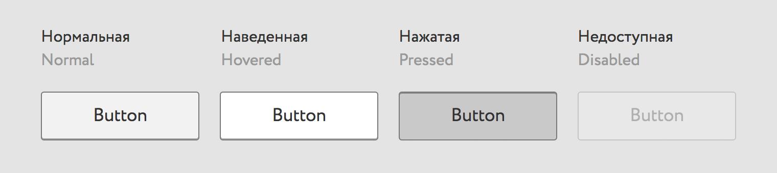 Состояния кнопки