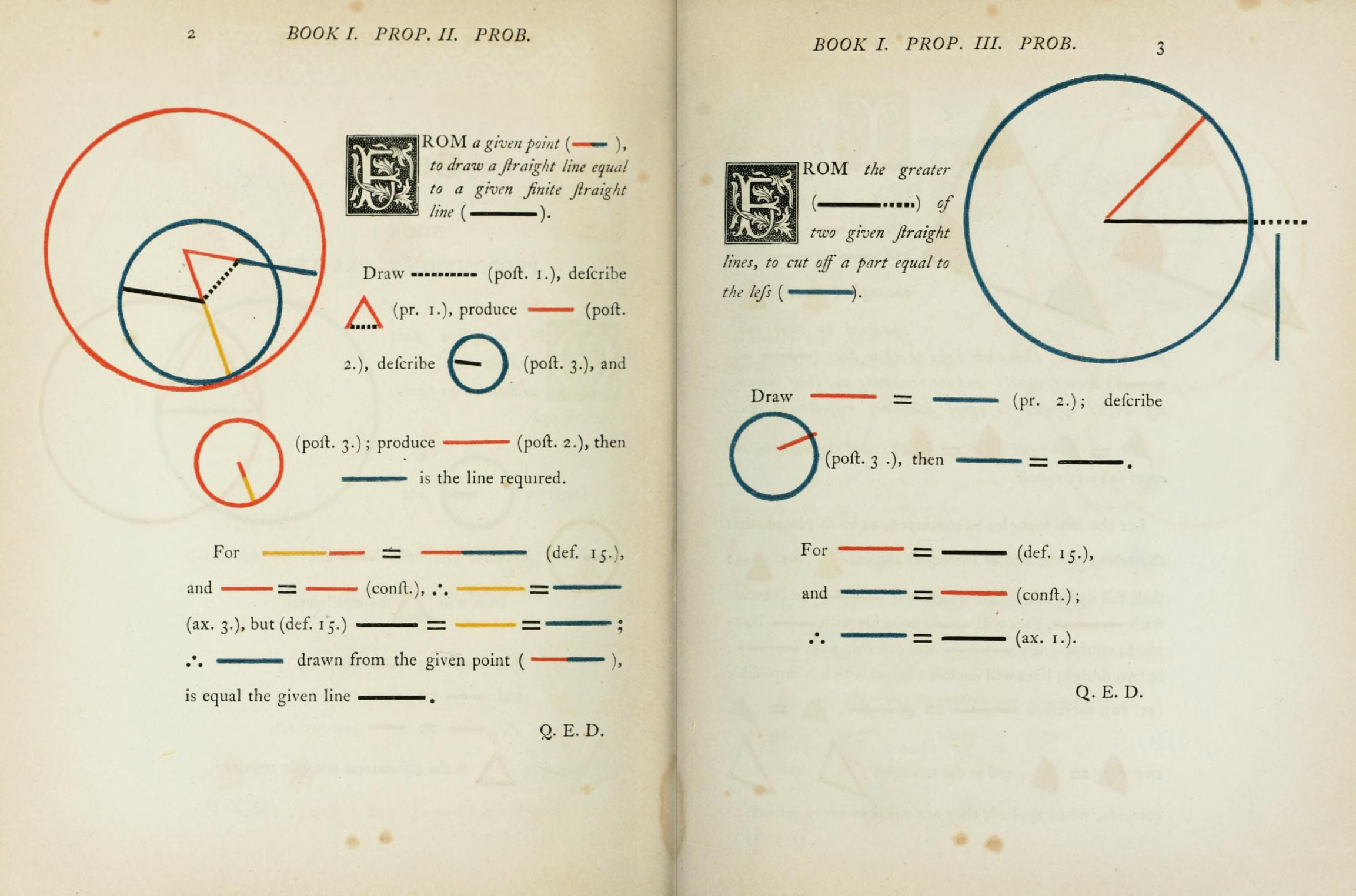 Oliver Byrne. The First Six Books of The Elements of Euclid (1847)